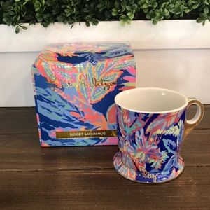 Lilly Pulitzer Sunset Safari coffee mug like new